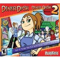 Encore Software Diner Dash 1 and 2 (PC/Mac)