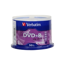 Verbatim Life DVD+R 16x 4.7GB 50 Pack Spindle