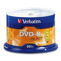 Verbatim Life DVD-R 16x 4.7GB 50 Pack Spindle
