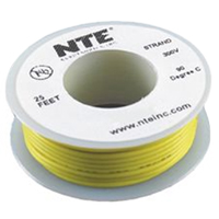 NTE Electronics 22 gauge Stranded Hook Up Wire 25' roll - Yellow