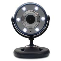 Gear Head Quick 1.3 MP Night Vision WebCam with 6 Foot USB Cable Blue