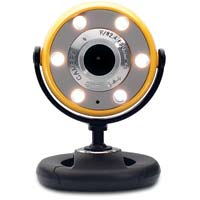 Gear Head Quick 1.3 MP Night Vision WebCam with 6 Foot USB Cable Yellow
