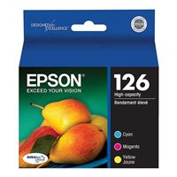 Epson T126520 Color Ink Cartridge 3-Pack