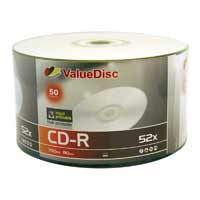 ValueDisc Hub Printable CD-R 52x 700MB/80 Minute Disc  50-Pack