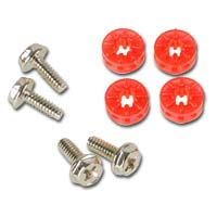 Lamptron HDD Rubber Screws UV Red 4 pack