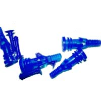 Lamptron Deluxe Rubber Fan Screws for Open Chassis Fan UV Blue 4 pack