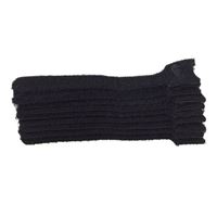 "NTE Electronics Hook and Loop Cable Ties 10"" Black 10 pack"