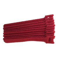 "NTE Electronics Hook and Loop Cable Ties 10"" Red 10 pack"