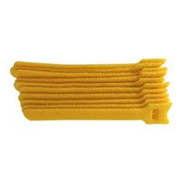 "NTE Electronics Hook and Loop Cable Ties 6"" Yellow 10 pack"