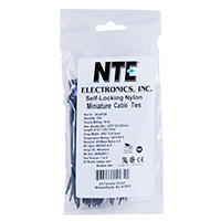 NTE Electronics Nylon Cable Ties 4 Inch Black 100 pack