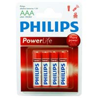 Philips Alkaline AAA 4 Pack