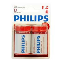 Philips Alkaline D 2 Pack