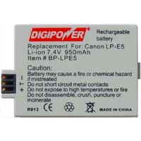 Digipower Digipower BP-LPE5 Replacement Li-Ion Battery for Canon LPE5