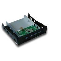 "Bytecc UH-430 4-Port Hub USB 3.0 3.5"" Drive Bay Insert - Black"