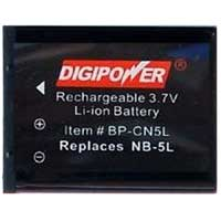 Digipower BP-CN5L Replacement Li-Ion Battery for Canon NB-5L