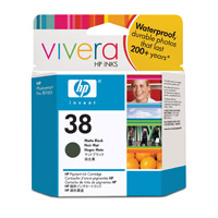 HP 38 Matte Black Pigment Ink Cartridge with Vivera Inks (C9412A)