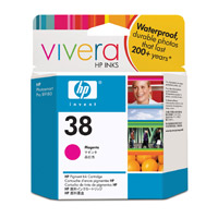 HP 38 Magenta Pigment Ink Cartridge with Vivera Inks (C9416A)