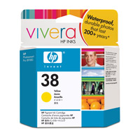 HP 38 Yellow Pigment Ink Cartridge with Vivera Inks (C9417A)