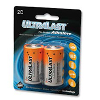 Ultralast UltraLast C Alkaline Battery 2 Pack