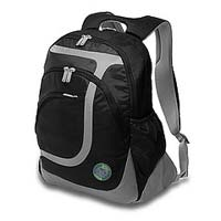 "Greensmart Indri Notebook Backpack Fits LCD Screen up to 15.6"" Black"