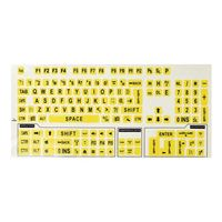 Viziflex Seels Large Print Labels for Keyboards Black on Yellow Keyboard Stickers