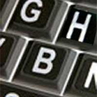 Viziflex Seels Large Print Labels for Keyboards White on Black labels
