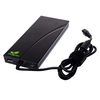 iGo 90 Watt Slim AC/DC Notebook Charger with USB (850mAH) Charging Port and 8 Power Tips
