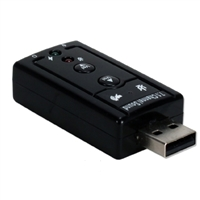 QVS USB 2.0 (Type-A) Male to 3.5mm Female Stereo Audio Adapter