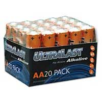 Ultralast AA Alkaline Battery 20 Pack
