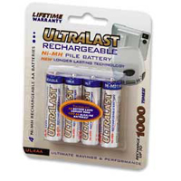 Ultralast AA NiMH Rechargeable Batteries - 4 Pack