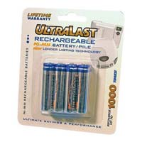 Ultralast Rechargeable AAA Batteries - 8 Pack