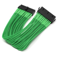 ModRight CableRight Single Braid 24-Pin Male to Female Power Supply Extension Cable - Green - 12""