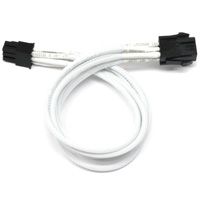 "ModRight CableRight CAB-229 12"" Single Braid 6-Pin PCIe Extension Cable - White"