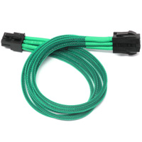 "ModRight CableRight CAB-228 12"" Single Braid 6-Pin PCIe Extension Cable - Green"