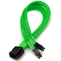 "ModRight CableRight Single Braid M/B CAB-243 12""Motherboard 8-Pin to 4+4-pin EPS Power Extension Cable - Green"