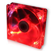 Xigmatek Crystal series CLF-F1252 120mm LED Crystal Red 3pin Case Fan