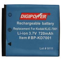 Digipower Replacement Li-Ion battery for Kodak KLIC-7001