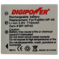 Digipower Replacement Li-Ion Battery for Fuji NP-40