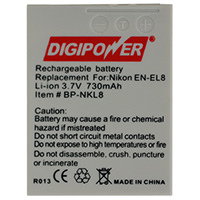 Digipower Replacement Li-Ion Battery for Nikon EN-EL8