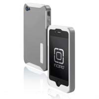 Incipio Technologies SILICRYLIC Case for iPhone 4 Gray/White