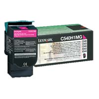 Lexmark C540H1MG High Yield Return Program Magenta Toner Cartridge
