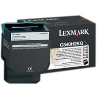 Lexmark C540H2KG High Yield Black Toner Cartridge