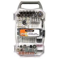 Chicago Power Tools 208 Piece Rotary Tool Accessory Set