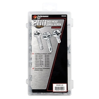 Performance Tools 200 Piece Hex Washer Drill Screw Assortment