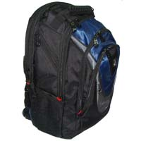 "Inland Notebook Backpack 15.6"" Black/Blue/Gray"