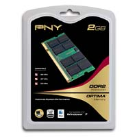PNY Optima 2GB DDR2-800 (PC2-6400) CL5 SO-DIMM Laptop Memory Module
