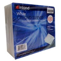 Inland EZ Sleeve White 100 Pack