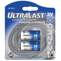 Ultralast ULCR2 Lithium Photo Battery 2 pack