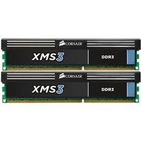 Corsair XMS3 Series 8GB DDR3-1333 (PC3-10666) CL9 Dual Channel Desktop Memory Kit (Two 4GB Memory Modules)