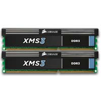 Corsair XMS3 Series 8GB DDR3-1600 (PC3-12800) CL9 Dual Channel Desktop Memory Kit (Two 4GB Memory Modules)